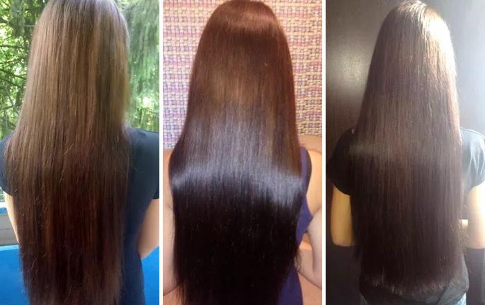 Касторовое масло - фото до и после применения на волосах