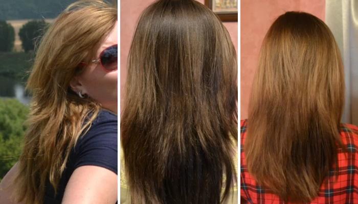 Маска для волос с кокосовым маслом - фото до и после применения