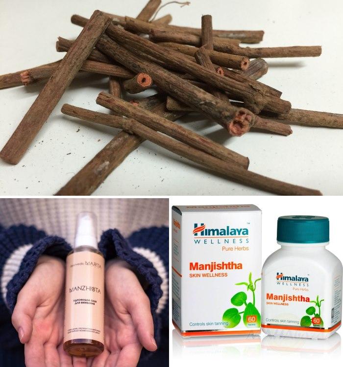 Натуральная косметика для сухой кожи с экстрактом манжишты