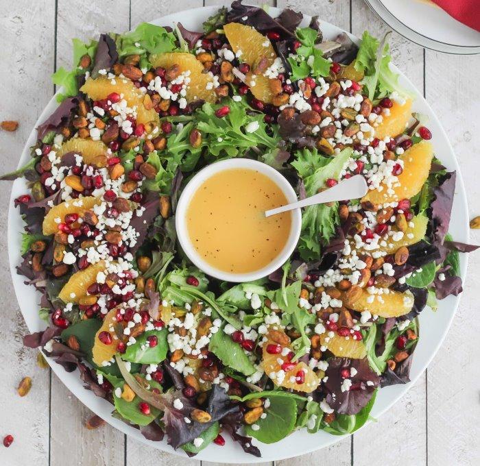 ТОП-7 полезных салатов на Новый год без майонеза и мяса
